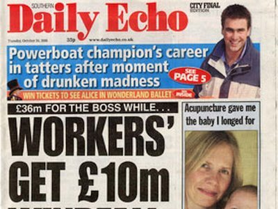 The Daily Echo 24th October 2007